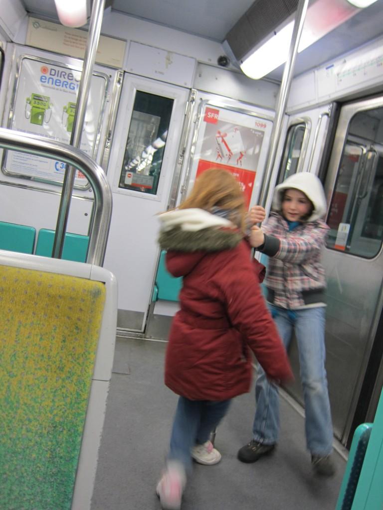 Flou dansant dans le métro